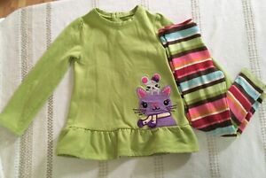 GYMBOREE Mousing Around Toddler Girls 2 Pc Outfit Size 4/5T