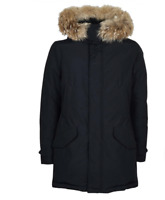 Woolrich Polar Parka HC WF1111 CN03 BLACK da Uomo NUOVO con etichetta Arctic