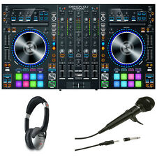 Denon MC7000 4-Channel DJ Controller with Dual USB Headphones & Mic BUNDLE