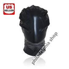 zipper Spandex With Latex Red Full Head cover Hood Mask  Bondage