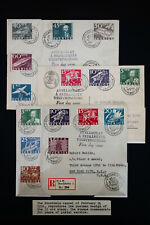Sweden 3 Stamped & Registered 1936 Covers
