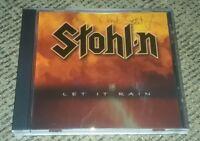 STOHL-N CD Chuck Stohl Metal Guitar DAMIEN Stolen TOLEDO OHIO signed LET IT RAIN