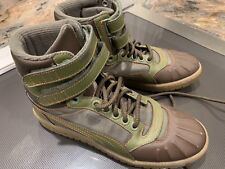 Puma Sky II Hi Duck Boot 362891-02 - Green/Brown - Boys Men's Size 6.5 Euc