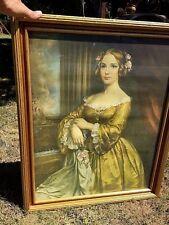 Antique Victorian JENNY LIND Opera Singer Piano Mantle Art Hallway Cecil Golding