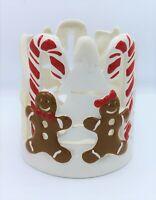 Bath & Body Works Slatkin Gingerbread Man Holiday Winter Luminary Ceramic NEW