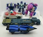 lot of Vintage Transformers G1 Onslaught, Blot, Siren, Squeezeplay, Dirge etc.