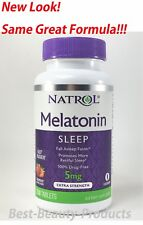 Natrol Melatonin 5 mg Fast Dissolve 250 Tablets-Strawberry Flavor