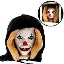 Scary Clown Peeping Tom Mask face prop Halloween Party Prank Window Peeper .