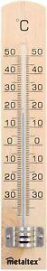 Thermomètre intérieur Marron Bois Mercure Température A l'Ancienne Degré