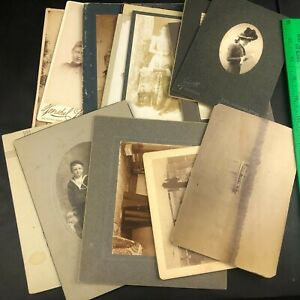 Small Collection of Antique Cabinet Photos