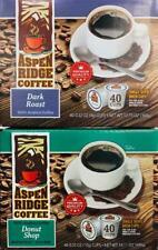 2PK ASPEN RIDGE DARK ROAST & DONUT SHOP COFFEE KEURIG K CUPS-40CT ~ FREE SHIP !~