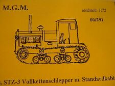 MGM 080-291 1/72 Resin WWII Russian STZ-3 Full-Track Tractor w/ Standard Cabin
