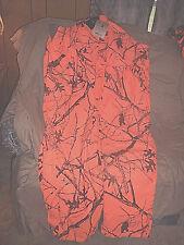 Mens 2X Bib Overalls Orange Camo Hunting Coveralls Insulated Bibs 2X Waterproof