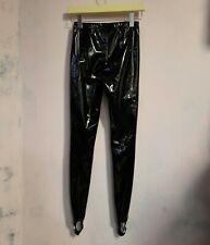 A.F. Vandevorst black PVC leggings rain pants new unworn archive xs small