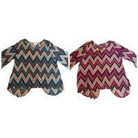 Gooya USA Women's Chevron Blouse Shirt Plus Size 1X 2X 3X