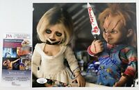 Jennifer Tilly & Ed Gale Dual Signed Bride Of Chucky 8x10 Photo Tiffany JSA COA