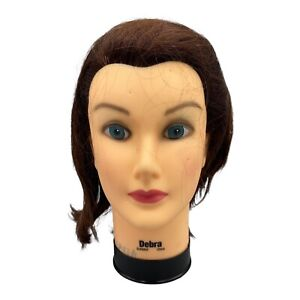 Debra Manikin Cosmetology Mannequin Head Real Human Hair preowned