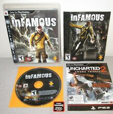 INFAMOUS PlayStation 3 w/Manual 1st Press PS3 Sucker Punch Action w/super powers