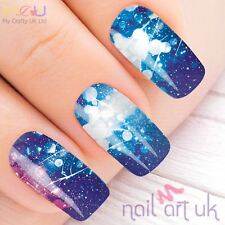 Vivid Blue Water Decal Nail Art Stickers, Decals, Tattoos