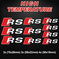 RS PREMIUM BRAKE CALIPER DECALS STICKERS AUDI TT RS3 RS4 RS5 RS6 Quattro
