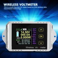 Wireless LCD Digital DC 0~400V 0~300A Voltmeter Ammeter Watt Tester Power Meter