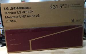 LG 32UN500-W 32 Inch UHD (3840 x 2160) VA Display w/ AMD FreeSync, DCI-P3 - NEW