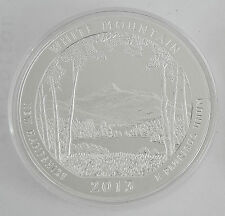 2013 5 OZ AMERICA THE BEAUTIFUL WHITE MOUNTAIN NATIONAL FOREST UNC SILVER ROUND