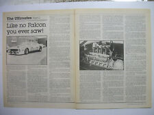 JIM RICHARDS FORD XC HARDTOP SPORTS SEDAN 2 PAGE MAGAZINE PREVIEW ARTICLE