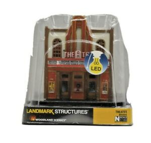 N Scale Woodland Scenics  Landmark LED Theater Building in Sealed Casing