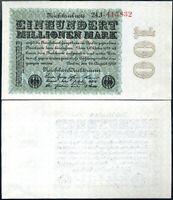 GERMANY 100 MILLION MARK 1923 P 107 UNC