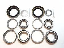 "SET OF 2 Trailer Hub Wheel Bearing Kit 3500# EZ Lube Axle 1.719"" Seal L68149"