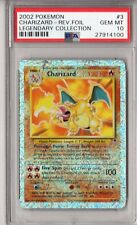PSA 10 CHARIZARD 2002 Pokemon Legendary Collection REVERSE HOLO FOIL #3 GEM MINT