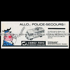 CORGI TOYS 1963 Transfert Fourgon COMMER VAN POLICE (464) Pub Publicité Ad #E97