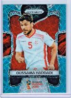 2018 Panini Prizm World Cup Soccer Oussama Haddadi Tunisia Blue Lazer PRIZM /125