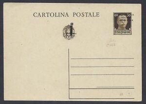 STORIA POSTALE RSI 1944 Intero Postale 30c NUOVO (C7) Certificato