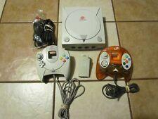 Sega Dreamcast White Console 2 CONTROLLERS AV AC TREMOR PAK TESTED WORKS