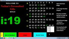 Bingo Software - American 1 -75 BINGO SOFTWARE / machine, Personalized for You