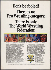WWF - World Wrestling Federation__Original 1991 Trade Print AD / ADVERT / poster