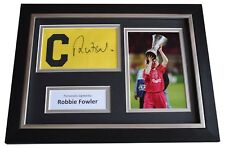 Robbie Fowler Signed Framed Captains Armband photo A4 display Liverpool & COA