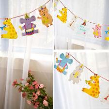 Kids 2M Animal cartoon birthday decoration Bunting baby shower party decor 2016