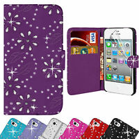 Bling Diamante Leather Diamond Wallet Case Cover For Apple iPhone 6 & 6 Plus