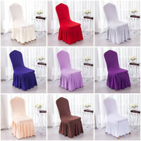 Spandex Wedding Dining Room Chair Cover Party Banquet Decor Slipcover 1/4/6 Pcs