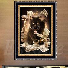 5D Fortune Cat Broderie diamant peinture Kit point de croix bricolage Home Decor