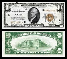 1929 UNC. $10.00 NATIONAL BANK COPY NOTE PLEASE READ DESCRIPTION!