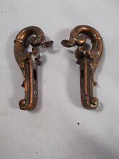 Antique vtg Art Nouveau Pair of Side Arms 4 light fixture or lamp bronze patina