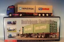 Conrad 1/50 Volvo FH16 ZM Nooteboom Flexitrailer P&O Nedlloyd & Maersk OVP #1446