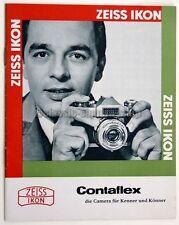 ZEISS IKON Prospekt CONTAFLEX Zubehör Kamera Objektiv Broschüre (X2418