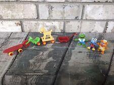 Vintage Sesame St Henson Muppets  car Kermit frog LOT T3