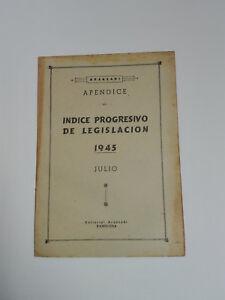 Aranzadi Appendix to The Index Progressive Of Legislation 1945 - July