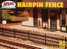 Atlas Model Railroad HO Scale Hairpin Fence Kit (Approx. 35 Inches)